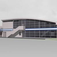 """Проект """"Subaru-центр Новосибирск"""". Архитектор: Сергей Косинов. 2015"""