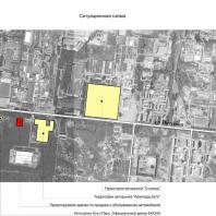 """Проект """"Subaru-центр Новосибирск"""". Ситуационная схема. Архитектор - Сергей Косинов. 2015"""