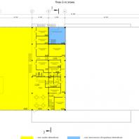 """Проект """"Subaru-центр Новосибирск"""". План 2-го этажа. Архитектор - Сергей Косинов. 2015"""