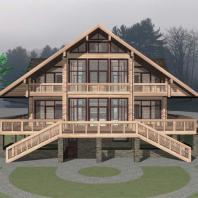 Проект одноквартирного 3-х этажного деревянного дома. Архитектор Сергей Косинов. Новосибирск. 2015 г.