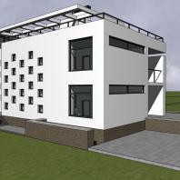 Эскизный проект индивидуального жилого дома «Локомотив». Архитектор: Сергей Косинов