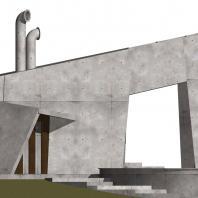 Эскизный проект летнего кафе-бара с бассейном и грилем в зоне отдыха «Приморье». Проектная мастерская «АПМ-Сайт»