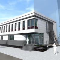 Проект информационного центра с магазином продовольственных товаров. Новосибирск. Проектная организация: «АкадемСтрой». 2018 г.