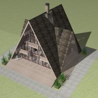 Эскизный проект загородного деревянного дома для семейного отдыха «Тайга». Архитектор Сергей Косинов