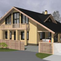 Эскизный проект индивидуального жилого дома «Винница». Архитектор: Косинов С.Ю.